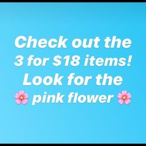 🌸🌸 3/$18 special items 🌸🌸
